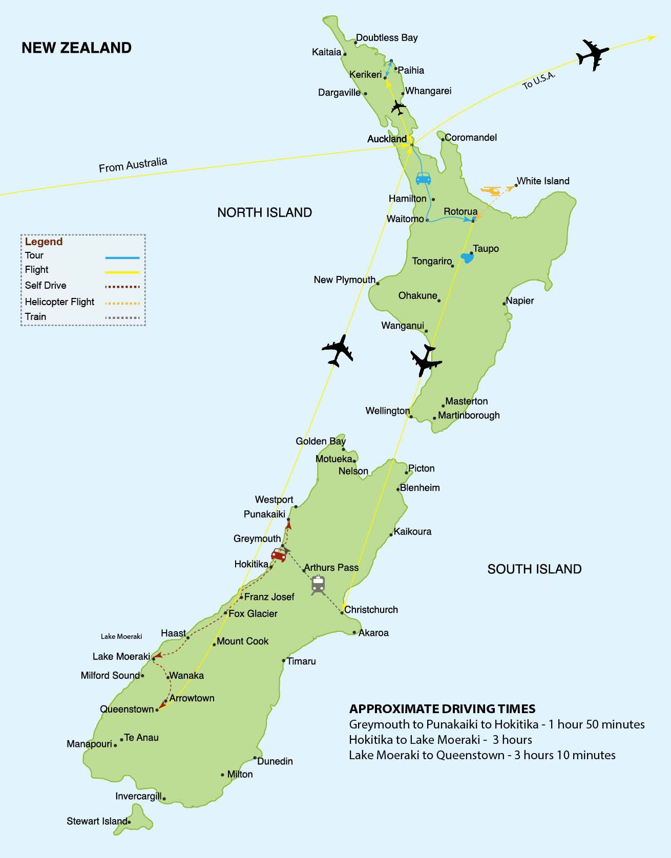 New Zealand Map GIBSON